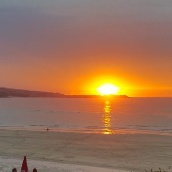 Sunset over St Ives Bay