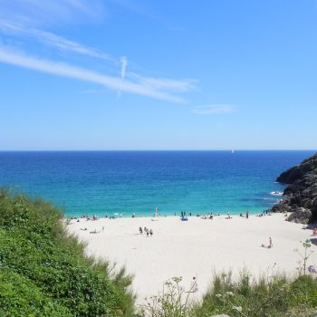The stunning Porthcurno beach